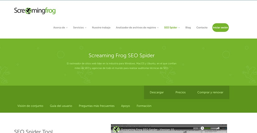 Screaming Frog: Ideal para conocer el sitio de tu marca
